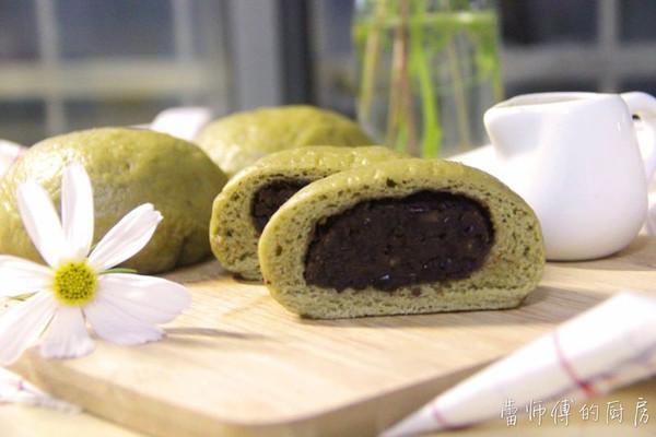 抹茶红豆包 (蒸制更健康)的做法