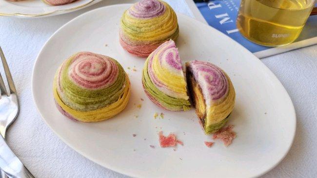 彩虹螺旋酥,层层起酥,吃一口唇齿留香!的做法
