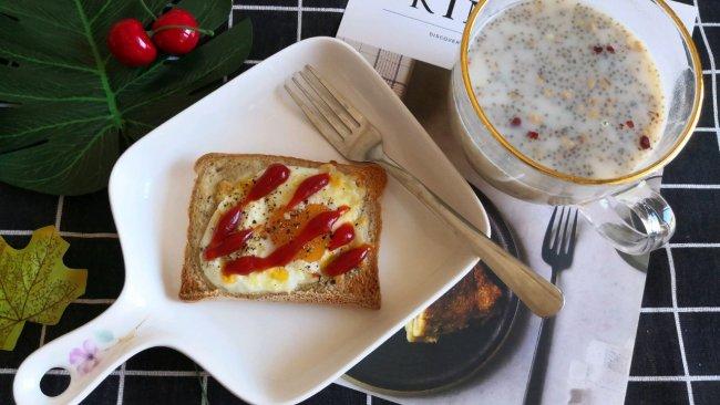 快手早餐#网红烤太阳蛋吐司的做法