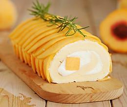 暖秋系列:黄桃蛋糕卷的做法