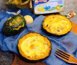 #安佳万圣烘焙奇妙夜#黑椒蘑菇焗南瓜的做法