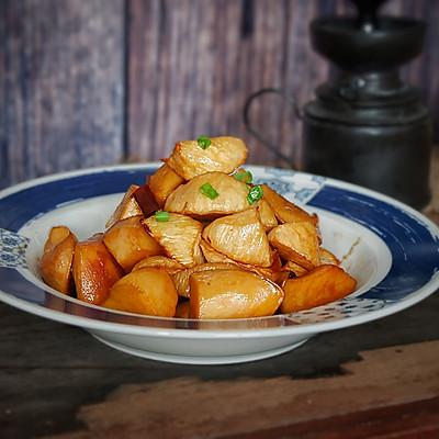 油焖茭白杏鲍菇