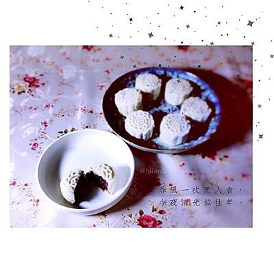 红豆冰皮月饼