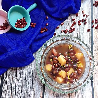 桂花红豆年糕汤