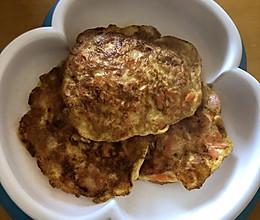 快捷早餐:胡萝卜火腿鸡蛋饼的做法