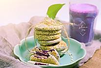快手芝麻紫薯饼的做法
