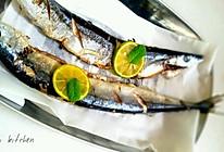 柠香盐煎秋刀鱼的做法