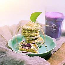 快手芝麻紫薯饼