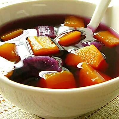 紫薯南瓜糖水