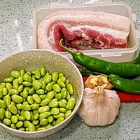 家常菜-辣椒毛豆炒肉沫的做法图解1