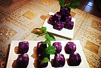 蜂蜜山药紫薯糕的做法