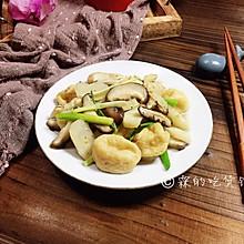 马蹄香菇烩鱼面筋