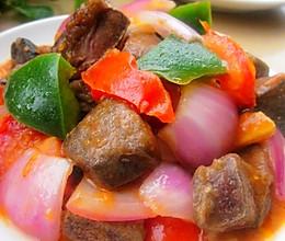 黑椒茄汁猪肝的做法