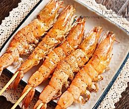 烤虾新酱料,黑胡椒烤虾的做法