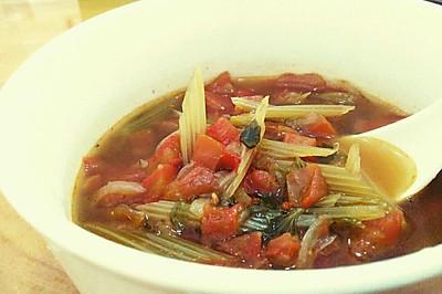 简易素食罗宋汤   一个人的素食减肥午餐