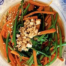 凉拌薄荷菠菜