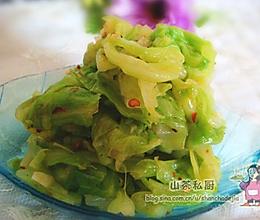 凉拌手撕圆白菜的做法