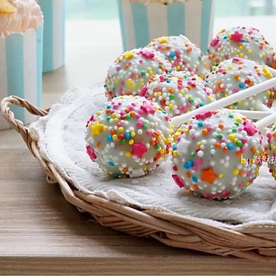 超简单的棒棒糖蛋糕~