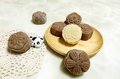 巧克力流心冰皮月饼