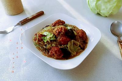 烩菜粉耳豆腐丸