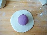 很惊艳的紫薯开花馒头的做法图解6