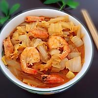 #精品菜谱挑战赛#鲜虾白菜的做法图解9