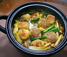 酿油豆腐菜菇煲的做法
