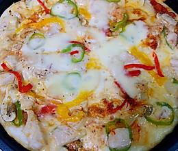 电饼铛版鸡肉蘑菇披萨的做法