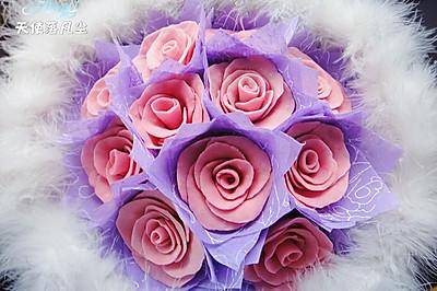 白色 情人节——巧克力玫瑰花束(附包装法)