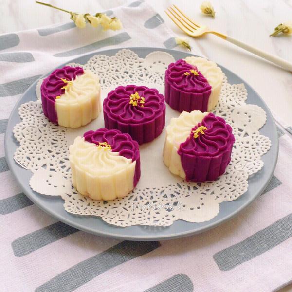 桂花紫薯山药糕