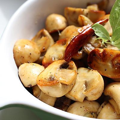 香蒜煎蘑菇---利仁电火锅试用报告