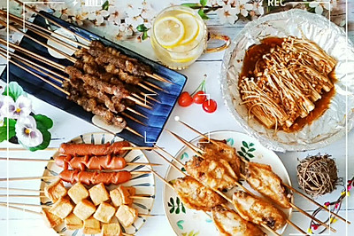 秘制烧烤(含烧烤撒料,刷酱,腌肉料),食材自由的完美大餐!