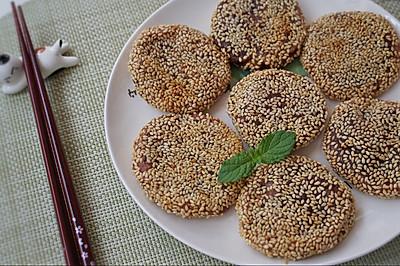 香甜软糯、快手简单的豆沙紫薯饼