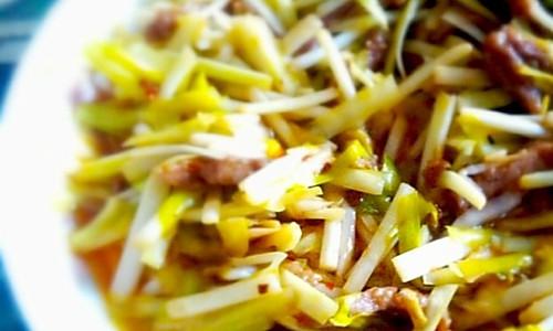 韭黄炒肉的做法