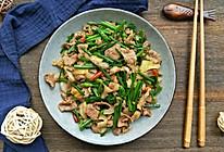 韭菜苔炒肉的做法