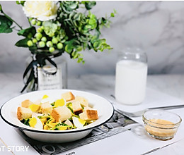 #肉食者联盟#会吃上瘾的减脂沙拉—秋葵鸡肉玉米沙拉的做法