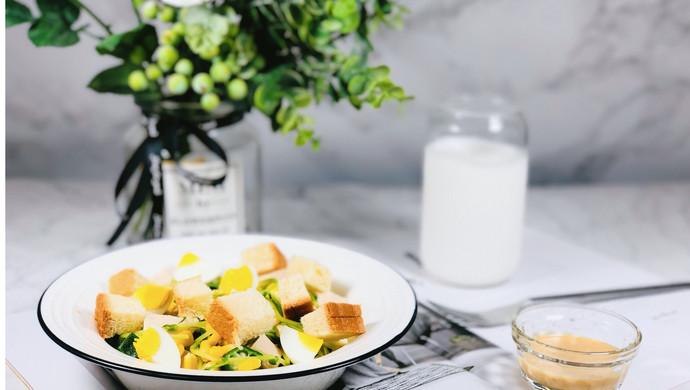 #肉食者联盟#会吃上瘾的减脂沙拉—秋葵鸡肉玉米沙拉