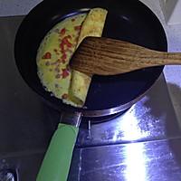 火腿番茄奶酪鸡蛋卷(快手早餐,适合小朋友哦)的做法图解8