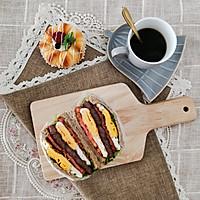 亲测好吃减肥餐 全麦鸡蛋牛排三明治 快手早餐营养均衡的做法图解8