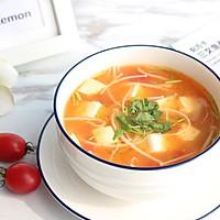 暖心暖胃【茄汁金针菇豆腐汤】的做法图解13