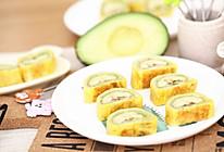 宝宝辅食食谱  牛油果香蕉卷的做法