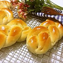 夹馅辫子面包(豆沙馅)