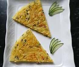 营养早餐土豆鸡蛋黄瓜饼的做法