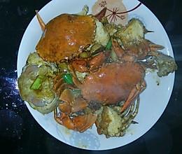 炒青蟹的做法