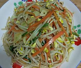 素炒黄豆芽的做法