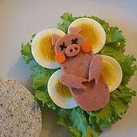 有趣又健康的早餐—分享小睡猪中式汉堡做法的做法图解4