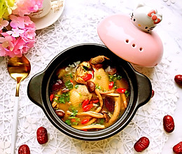 冬季养生食补菌菇老母鸡汤的做法