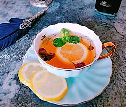 美颜瘦身茶-柠檬乌龙玫瑰茶的做法