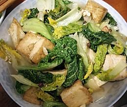 青菜豆腐小炒的做法
