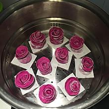玫瑰花卷~火龙果版
